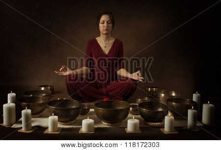 Young Woman Meditates