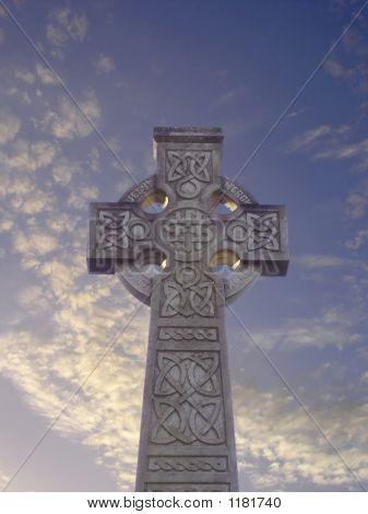 Celtic Cross With Sky