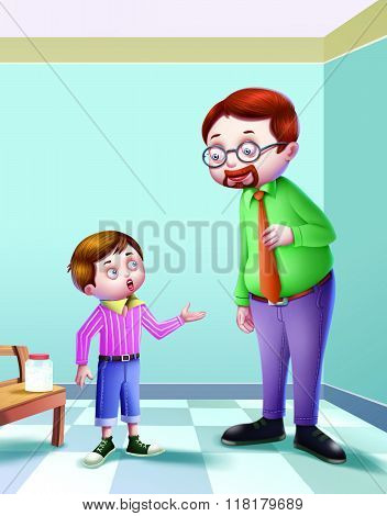 Johny Johny Yes Papa /In this poem a conversation is going on between father and the son. The father is asking about the child whether he has eaten sugar or not.