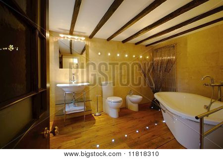 bathroom in large house
