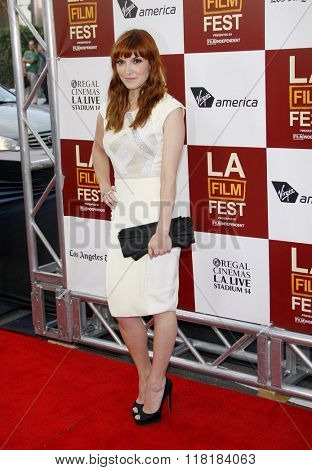 Lorene Scafaria at the 2012 Los Angeles Film Festival premiere of