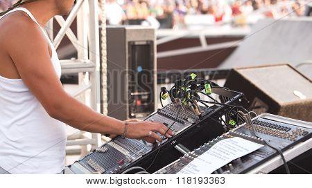 Sound control engineer
