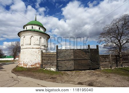 Ancient Tower And Old Fence