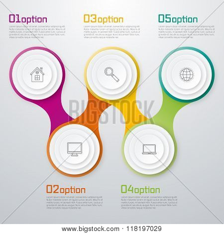 Timeline Vector 3d Infographic