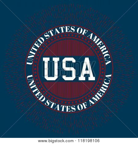 Stock vector logo USA