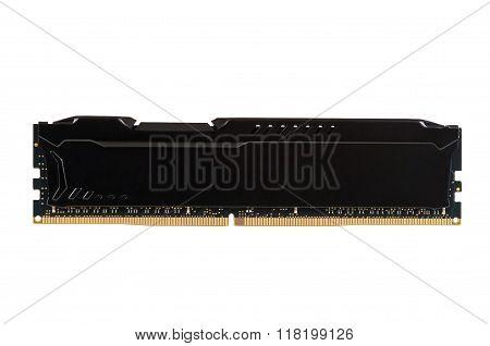 Modern Ram Memory Module With Black Radiator