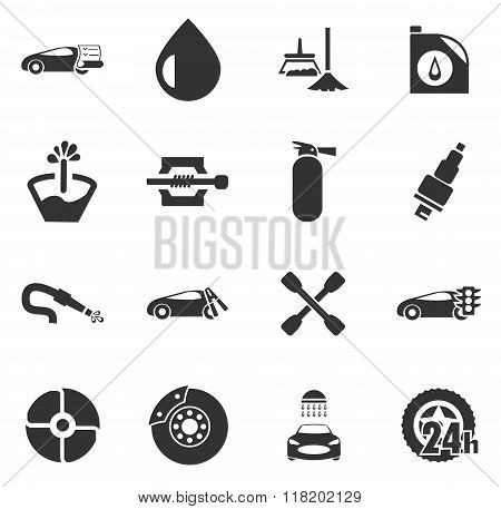 Car Shop Icons Set Vector Photo Free Trial Bigstock