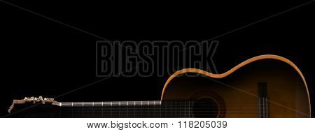 Guitar In Silhouette