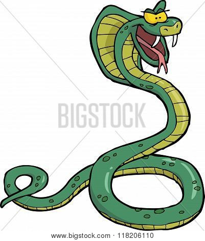 Cartoon Snake Cobra