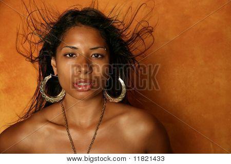 Glamor ethnic woman