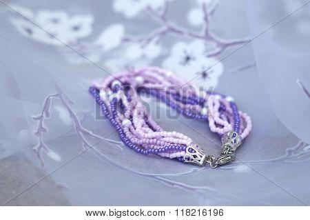 Handmade Bracelet With Beaded Strings