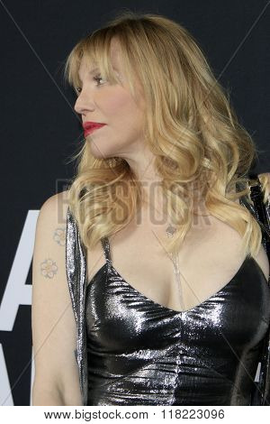 LOS ANGELES - FEB 10:  Courtney Love at the SAINT LAURENT At The Palladium at the Hollywood Palladium on February 10, 2016 in Los Angeles, CA
