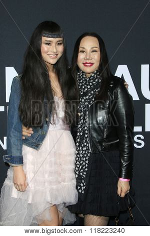 LOS ANGELES - FEB 10:  Asia Chow, Eva Chow at the SAINT LAURENT At The Palladium at the Hollywood Palladium on February 10, 2016 in Los Angeles, CA