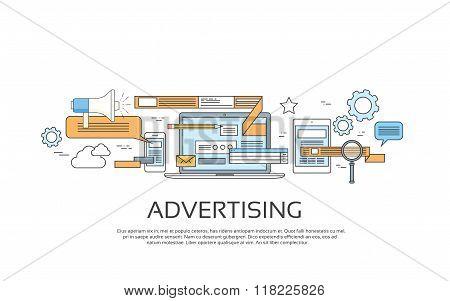 Advertising Online Web Banner Concept Internet Technology