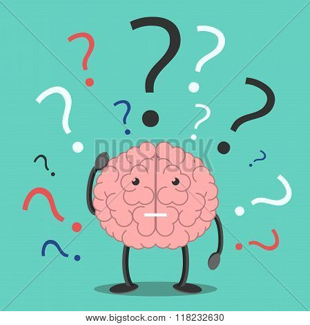Confused Brain Character Thinking