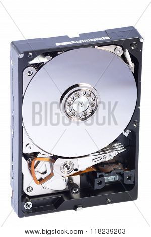 Modern 3TB Harddrive with four platters.