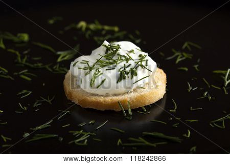 Cracker With Cream Cheese