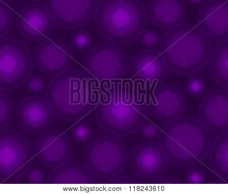 Violet seamless pattern with round shapes.