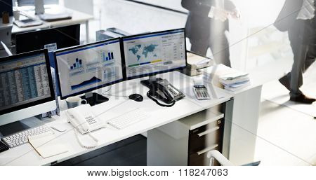 Workplace Marketing Accounting Place of Work Concept
