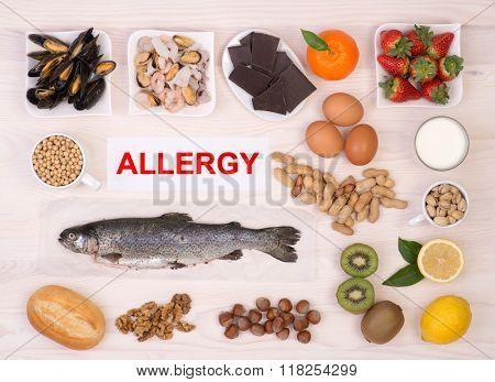 Allergy causing foods