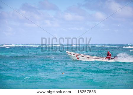 Motorboat With Local Driver, Dominican Republic