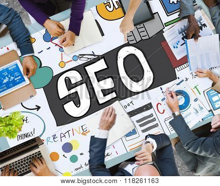 SEO Content Search Engine Optimization Concept