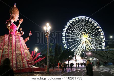The Queen And Ferris Wheel - Carnival Of Nice 2016