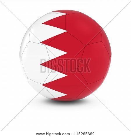 Bahrain Football - Bahraini Flag On Soccer Ball