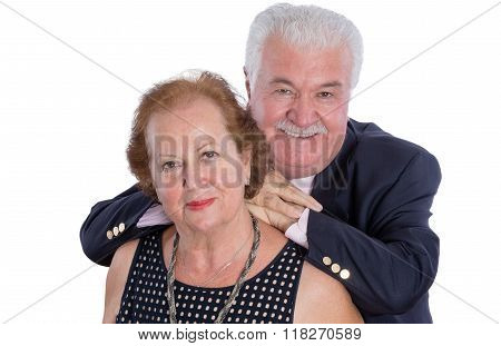 Happy Older Couple Standing Together