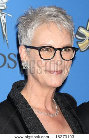 LOS ANGELES - FEB 14:  Jamie Lee Curtis at the 2016 American Society of Cinematographers Awards at the Century Plaza Hotel on February 14, 2016 in Century City, CA