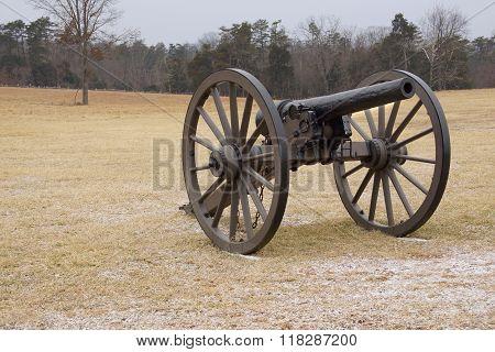 Bull Run Cannon In Field