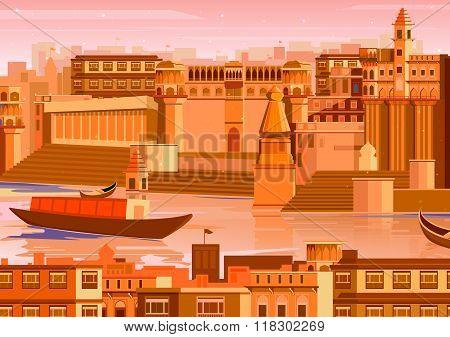 City of Varanasi in India