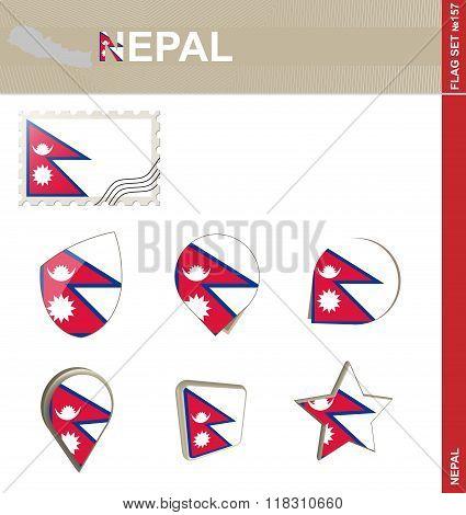 Nepal Flag Set, Flag Set #157