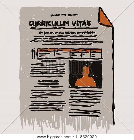 Curriculum Vitae Resume Icon Symbol