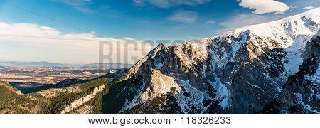 Mountains Inspirational Winter Landscape, Tatra Panorama