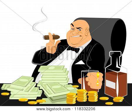 Rich Man Smoking