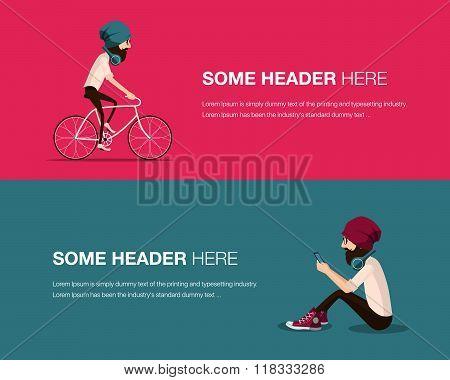 Hipster banner