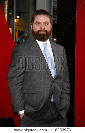 Zach Galifianakis at the Los Angeles premiere of 'The Hangover Part II' held at the Grauman's Chinese Theatre in Hollywood, USA on May 19, 2011.