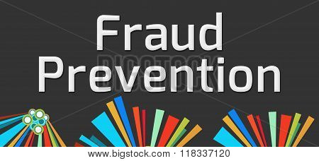 Fraud Prevention Dark Colorful Elements
