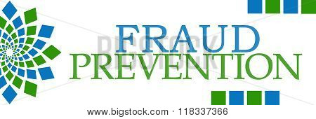 Fraud Prevention Green Blue Squares Elements