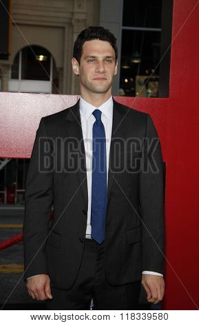 Justin Bartha at the Los Angeles premiere of 'The Hangover Part II' held at the Grauman's Chinese Theatre in Hollywood, USA on May 19, 2011.