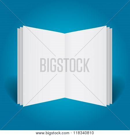Vertically Standing Open Booklet