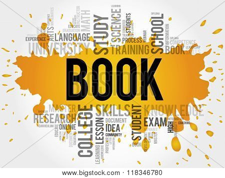 BOOK. Word education collage concept, presentation background