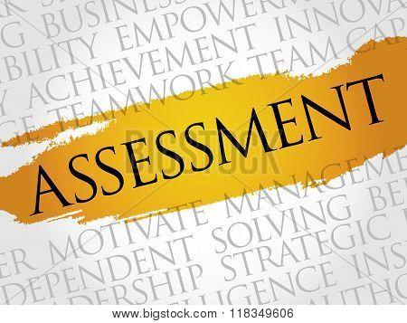 ASSESSMENT word cloud business concept, presentation background