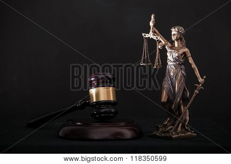 Themis and gavel