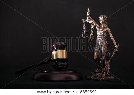 Themis and gavel