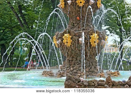 Saint-Petersburg. Russia. Crowning Fountain