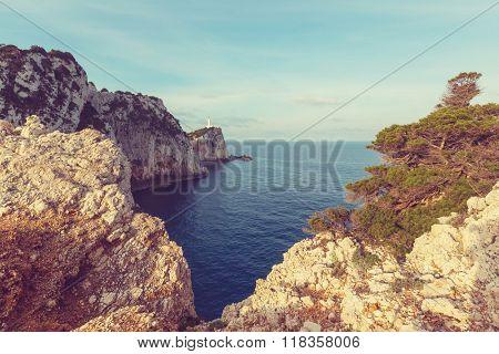 Lefkada town in Greece