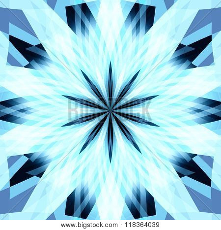 abstract background star of  Blue sunlight