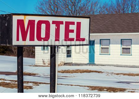 An old abandoned North American motel.